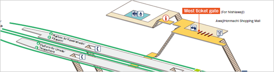 Awaji Station Guide Hankyu Corporation